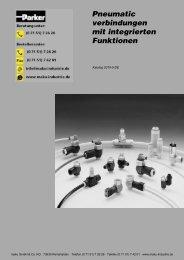73-0019-5-DE Pneumatic verbindungen mit int. Funktion - Parker