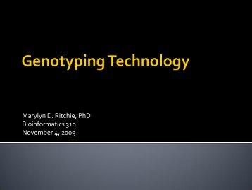 Genotyping Technology