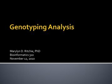 Genotyping Analysis