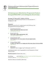 Einladung zum öffentlichen Progressia-Podium EnergieSPEICHER ...