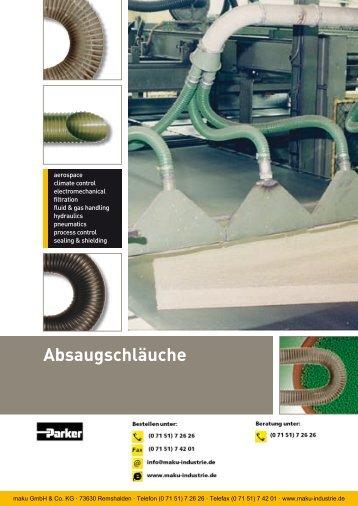Katalog: 73-4100-DE Absaugschläuche - Parker
