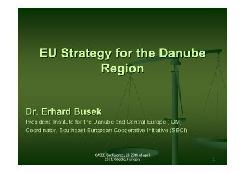 EU Strategy for the Danube Region - ICA - Association for European ...