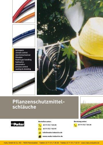 Katalog: 73-4100-DE Pflanzenschutzmittelschläuche - Parker