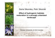 Effect of Water Dependent Ecosystem Restoration in Strongly ...