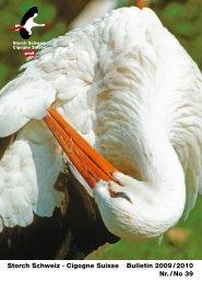 Storch Schweiz · Cigogne Suisse Bulletin 2009 / 2010 Nr. / No 39