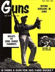 GUNS Magazine May 1957 - Jeffersonian