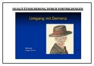 qualitätssicherung durch fortbildungen - Anke-Petra Peters
