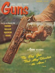 GUNS Magazine September 1962 - Jeffersonian