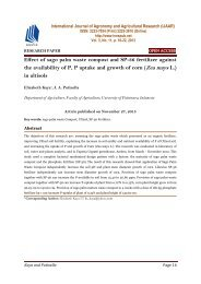 Effect of sago palm waste compost and SP-36 fertilizer against the availability of P, P uptake and growth of corn (Zea mays L.) in ultisols