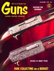 GUNS Magazine November 1958 - Jeffersonian