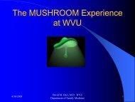 Mushroom - WVU School of Medicine - West Virginia University