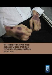 Second report - War Crimes of the Armed Forces and Security Forces of Ukraine
