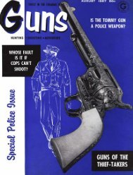 GUNS Magazine August 1957