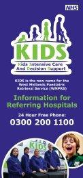 referral leaflet - KIDS - Birmingham Children's Hospital