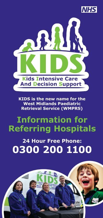 referral leaflet - KIDS - Birmingham Children's Hospital