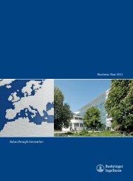 Business Year 2011 PDF (1.35 MB) - Boehringer Ingelheim Annual ...