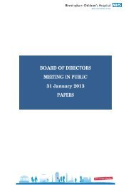 Agenda and Papers for Public Board Meeting January 2013