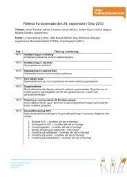 Referat fra styremøte den 24. september i Oslo 2010 - Unge ...