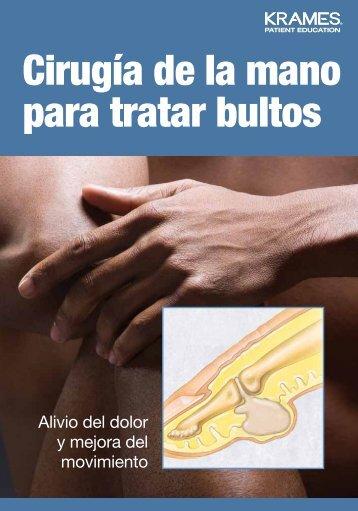 Cirugía de la mano para tratar bultos - Veterans Health Library