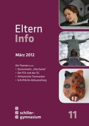 Elterninfo 11 vom März 2012 - Schiller Gymnasium