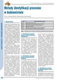 52 Metody identyfikacji procesów w budownictwie – Andrzej Polak