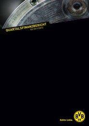 quartalsfinanzbericht - BVB Aktie - Borussia Dortmund