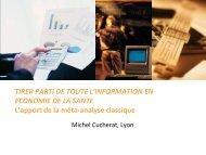 Méta-analyses classiques - SFES - Société Française en Economie ...