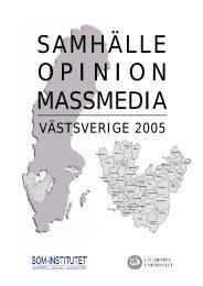 VÄSTSVERIGE 2005 - SOM-institutet - Göteborgs universitet