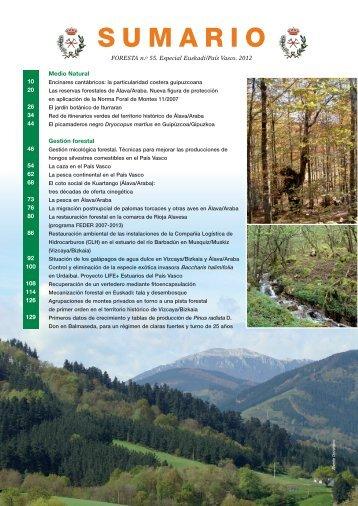 SUMARIO - Ilustre Colegio Oficial de Ingenieros Tecnicos Forestales.