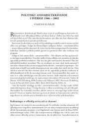politiskt ansvarsutkrävande i sverige 1986 – 2002 - SOM-institutet