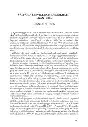 Välfärd, serVice och demokrati – skåne 2006 - SOM-institutet