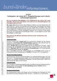07/2011 Tarifergebnis der Länder 2011 ... - Vau-online.de