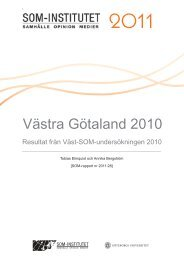 Västra Götaland 2010 - SOM-institutet - Göteborgs universitet