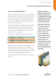 Thermal Insulation Performance - Plasmor