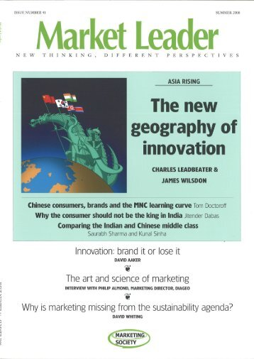 eography of innovation - The Marketing Society