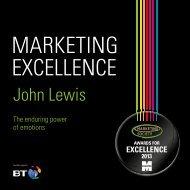 John Lewis - The Marketing Society