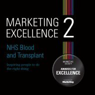 NHS Blood and Transplant - The Marketing Society