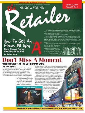 January, 2012 - Music & Sound Retailer