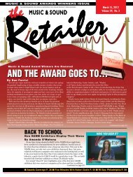 March, 2012 - Music & Sound Retailer