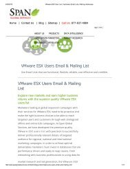 Purchase Prepackaged Vmware ESX User Lists from Span Global Services