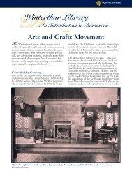 Arts and Crafts Movement.qxp - Winterthur