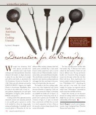 Decoration for the Everyday: Iron Cooking Utensils of - Winterthur