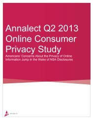 Annalect Q2 2013 Online Consumer Privacy Study - Annalect.com