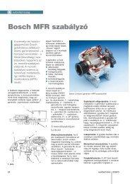 Bosch MFR szabályzó