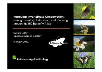 BC's Butterfly Atlas - South Coast Conservation Program