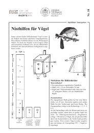 Nisthilfen für Vögel - und Umweltschutz-Akademie NRW (NUA)