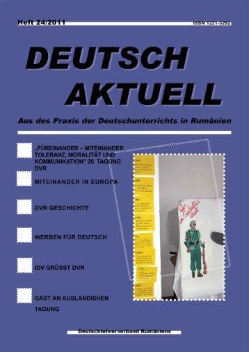 Deutsch Aktuell 2011 - Deutschlehrerverband Rumäniens