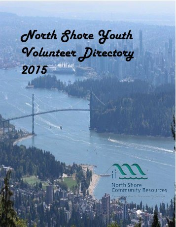 2015 North Shore Youth Volunteer Directory