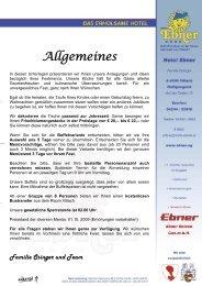 Allgemeines - Hotel Ebner