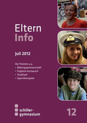 Elterninfo 12 vom Juli 2012 - Schiller Gymnasium